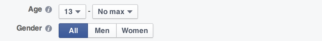 Facebook annoncer alder