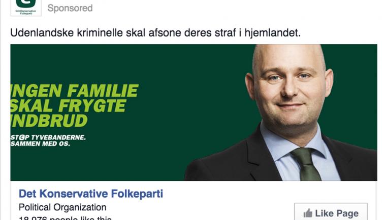 Konservative - facebook annoncering