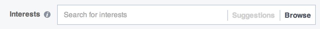 facebook annoncer interesser